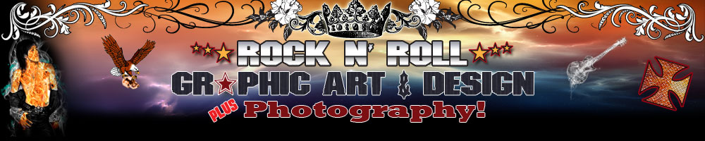 Rock n Roll Graphic Art 6 Design : Plus Photography!